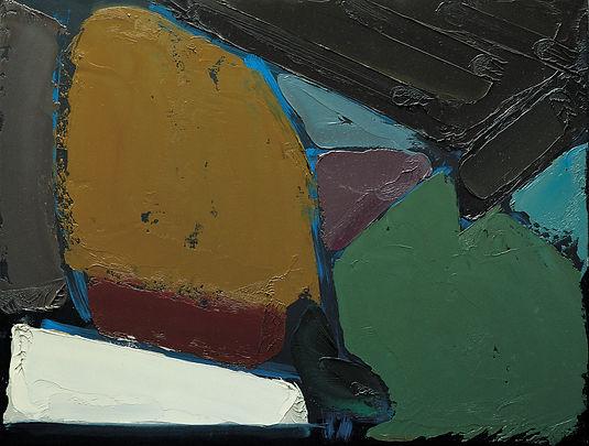 Alfredo Chighine, Tramonto 1957, olio su tela 63 x 70 cm.jpg