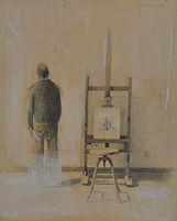 Gianfranco Ferroni, nello studio 1983 pastelli su cartoncino 28,2 x 23 cm