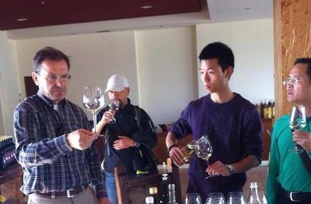 Wine tasting at Zeginis Winery