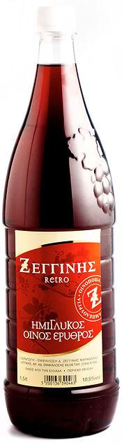 Ημιγλυκο Κρασι ΠΕΤ φιάλη