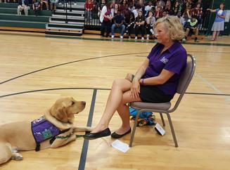 Visit at Dutch Fork Middle School
