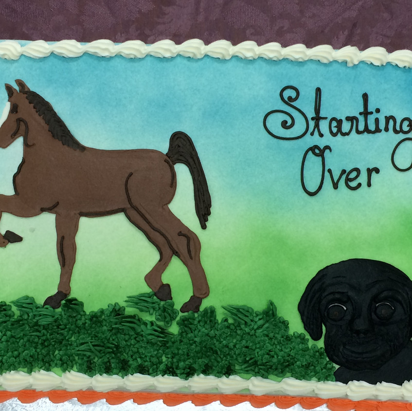 Starting Over Launch Party Cake