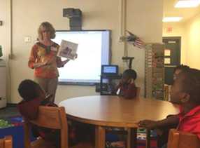 Sheri speaks at Jane Edwards Elementary