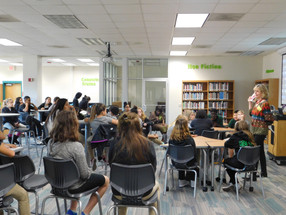 Sheri visits McCracken Middle School
