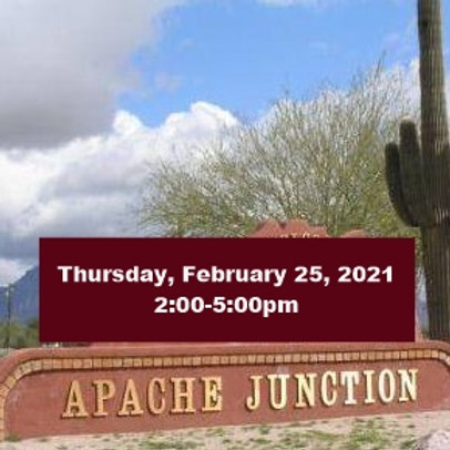 TICKET: Thursday, February 25, 2021, Apache Junction - SqueezeBox - Dan