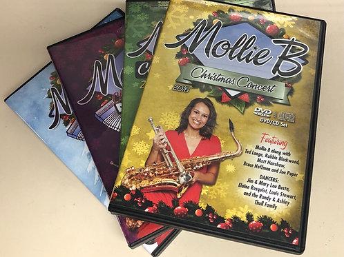 "FOUR DVD/CD packs: ""Mollie B Christmas"""
