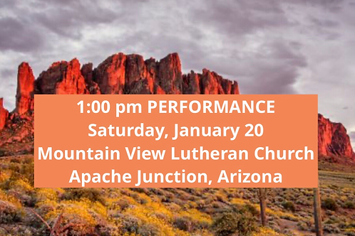 TICKET: Saturday, February 20, 2021, Apache Junction - SqueezeBox -Performance
