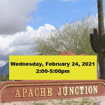 TICKET: Wednesday, February 24, 2021, Apache Junction - SqueezeBox - Danc