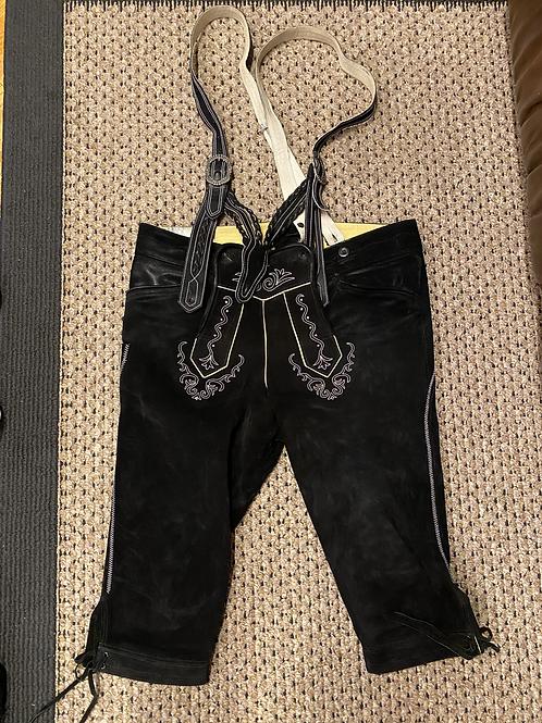 Mens Black Bundhosen with shoulder straps, Lightly Used.