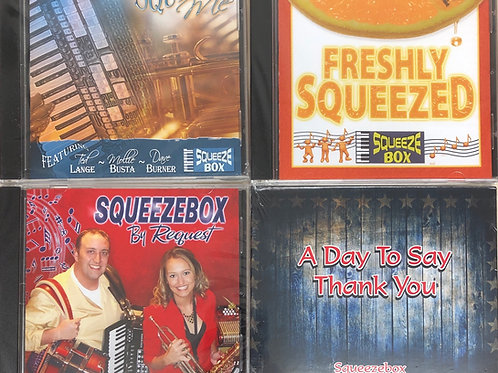 All 4 SqueeezeBox CDs with Mollie B & Ted Lange