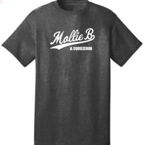 """T-shirt: Dark Heather Grey """"Mollie B & SqueezeBox"""""""