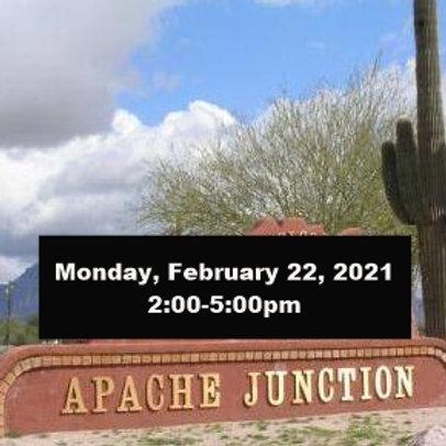 TICKET: Monday, February 22, 2021, Apache Junction - SqueezeBox - Danc