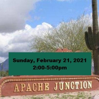 TICKET: Sunday, February 21, 2021, Apache Junction - SqueezeBox - Danc