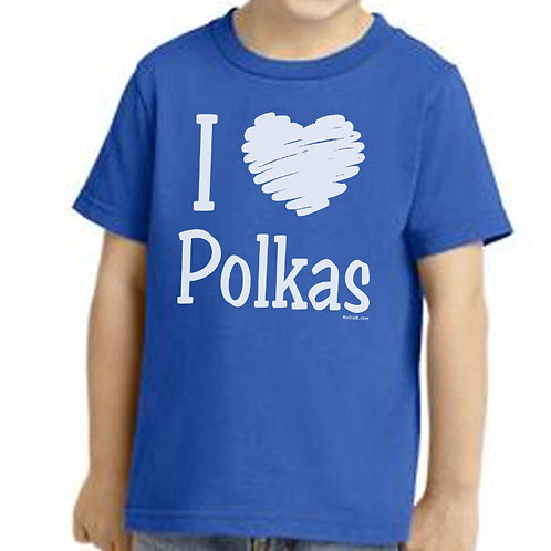 "T-SHIRT: ANY COLOR ""I (HEART) Polkas"""