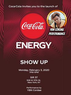 Coca Cola Energy Launch