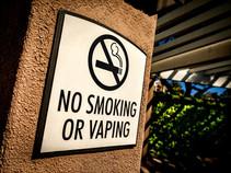 No smoking - No vaping