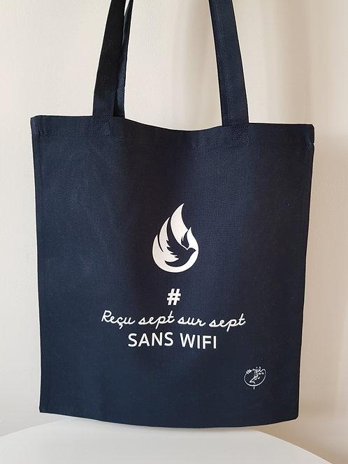 Sac Totebag feu reçu 7/7 sans Wifi.