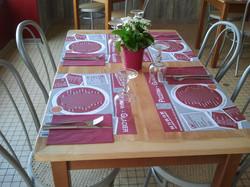 Logo set de table Menu...