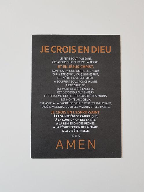 Affiche-prière Je Crois en Dieu