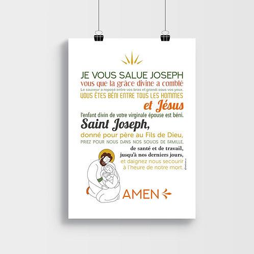 Affiche-prière Je vous Salue Joseph