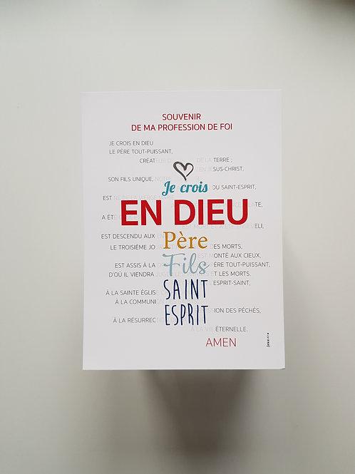 Affiche-prière Credo