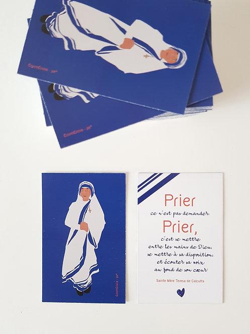 Mini carte Mère Teresa de Calcutta