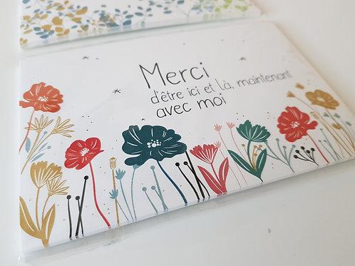 Lot de 10 cartes MERCI