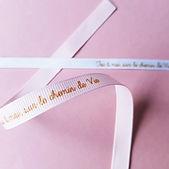 Duo Bracelets-ruban baptisée et marraine