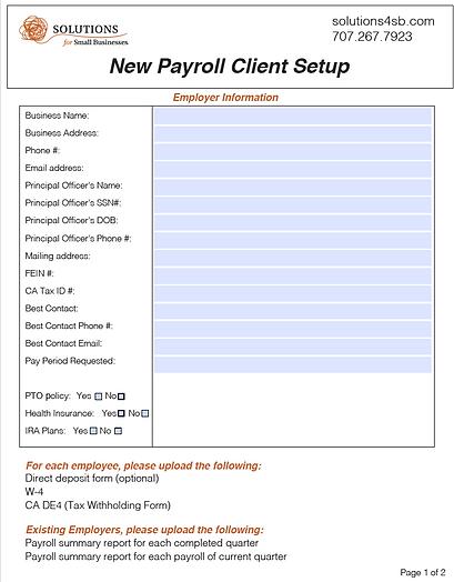 New Payroll Client