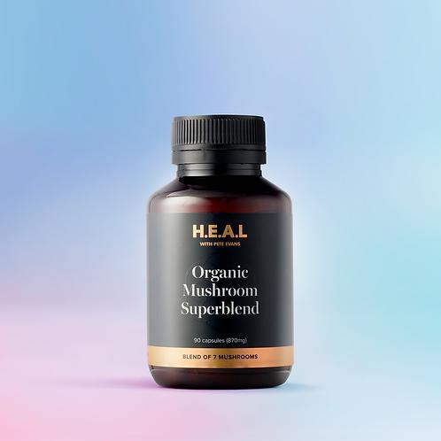 H.E.A.L Organic Mushroom Superblend - 90 Caps