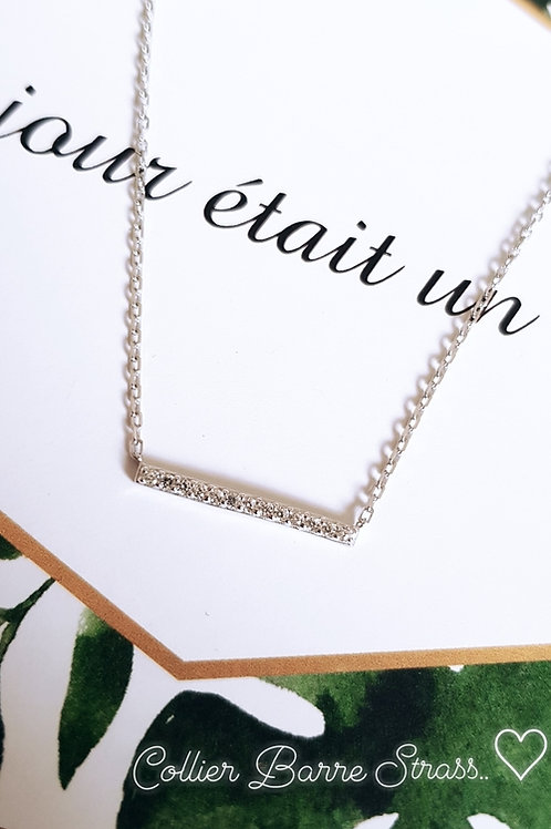 Collier Barre Strass