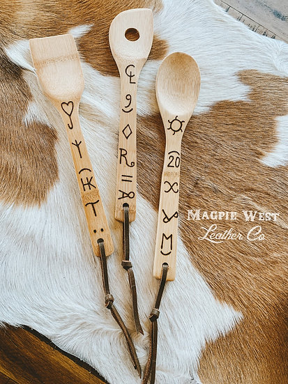 Brand Your Cattle Kitchen Spoons