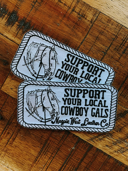 Support Your Local Cowboy Gals Patch