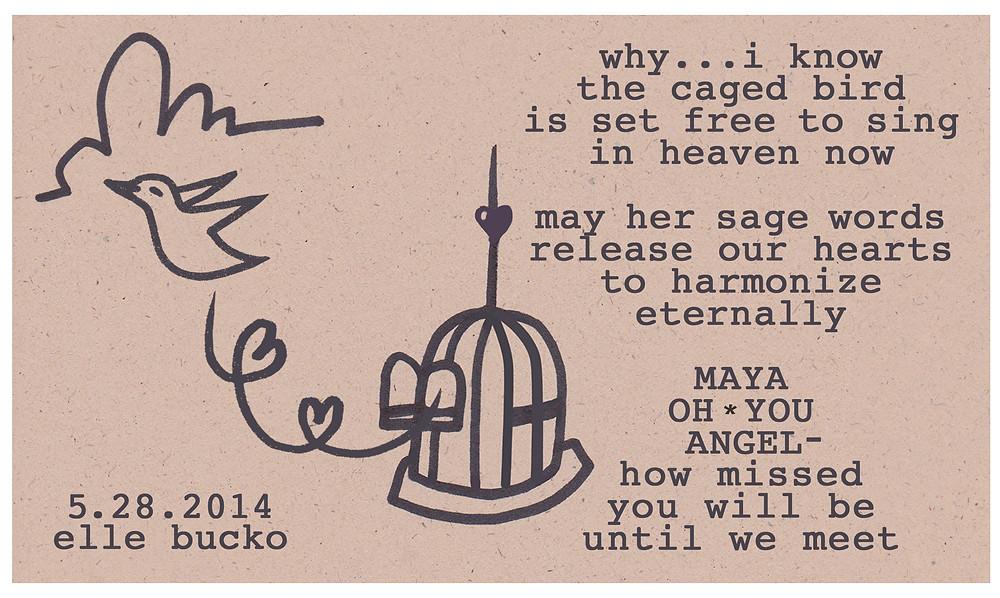 Elle Bucko Maya Angelou