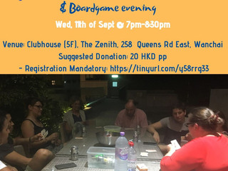 Mahjong for beginners & board game nite, Wed, 11 Sept @ Wanchai