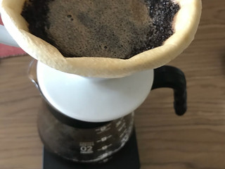 Grinding the coffee beans