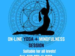 ON-LINE Yoga & Mindfullness session, Sat 8th Aug @Cherry Yoga