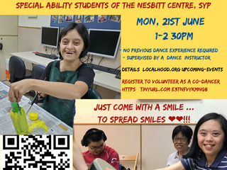 Come with your smile to spread smiles: Co-dancing with special abilities students of Nesbitt Centre