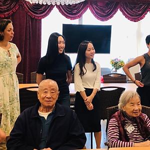 Visitng the elderly Home_Yoga, Art and Make up session
