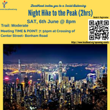 EASY NITE HIKE🚶🏻🏃♀️ TO THE PEAK with Pat Fong: Fri, 23rd Oct, 7:30pm