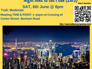 NITE HIKE🚶🏻🏃‍♀️ TO THE PEAK for beginners @ Sat, 6th June