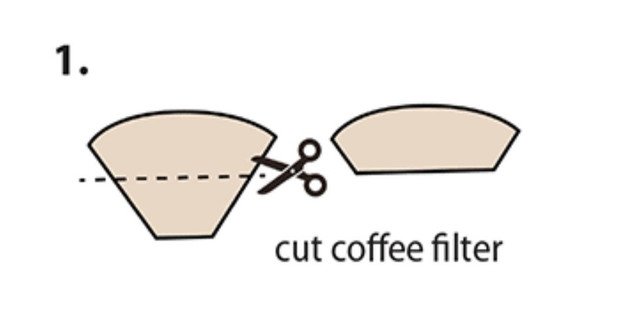Coffee filter mask