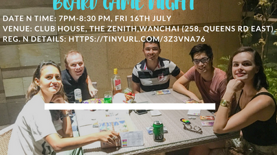 Board game night with Christine Li @ 7pm on Fri, July 16th @ Wanchai