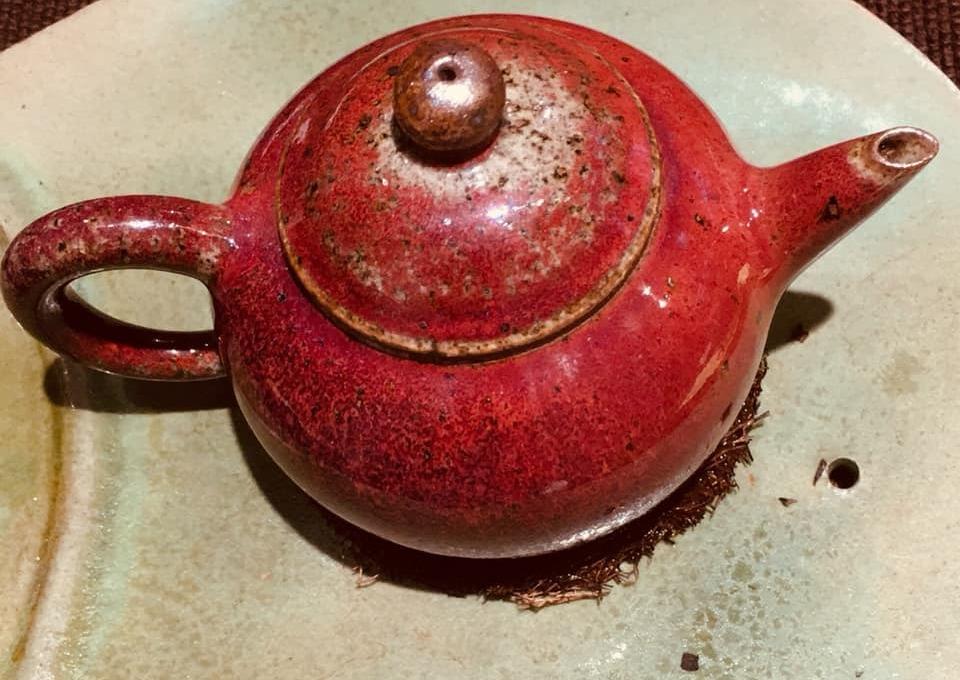Red tea-ware