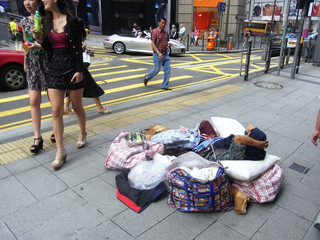 The homeless in HK during Covid