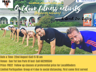 Beginner friendly OUTDOOR Fitness @ Sat, 22nd AUG