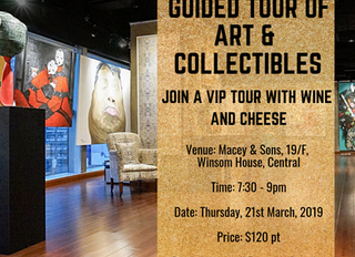 Celebrating Art: Tour of Art & Luxury Collectibles @ Macey & Sons