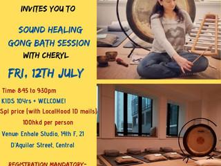 LocalHood Sound Healing GONG Bath @ FRI, 12th JULY