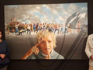 """El Palacio de Los Condes de Santa Ana Lucena acoge la exposición de pintura, """"Y ME LLAMAS PAZ"""", de A"""