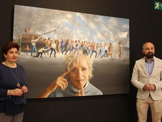 """El pintor Alexandre Monntoya trae a Lucena su exposición """"Y me llamas paz"""""""